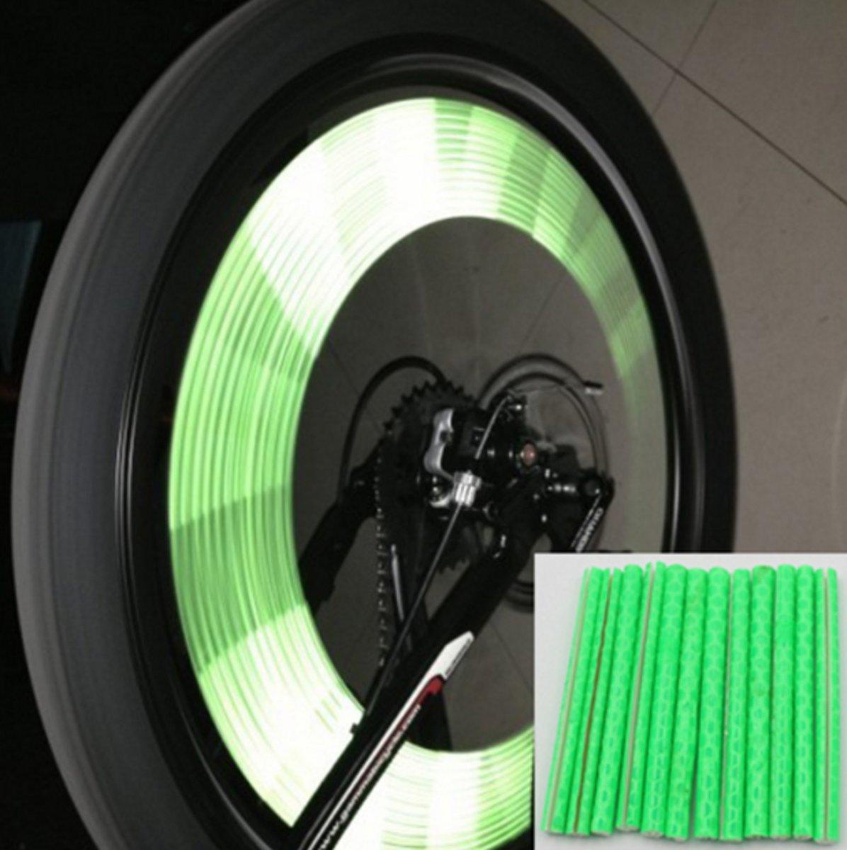 Fietswiel Spaak Reflectie Sticks (12) - Groen