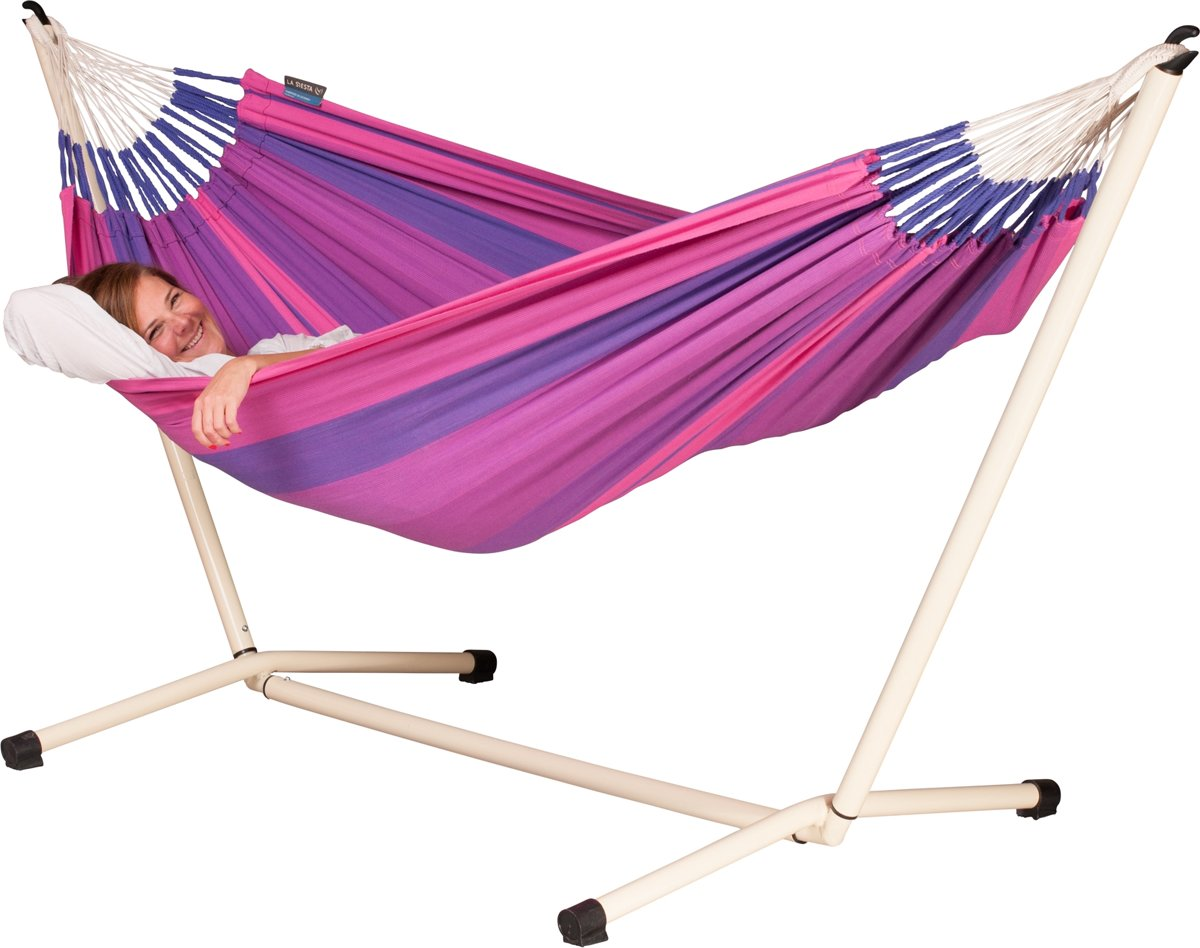 Hangmatset: 1-persoons hangmat  ORQUIDEA purple + 1-persoons hangmat  Standaard NEPTUNO