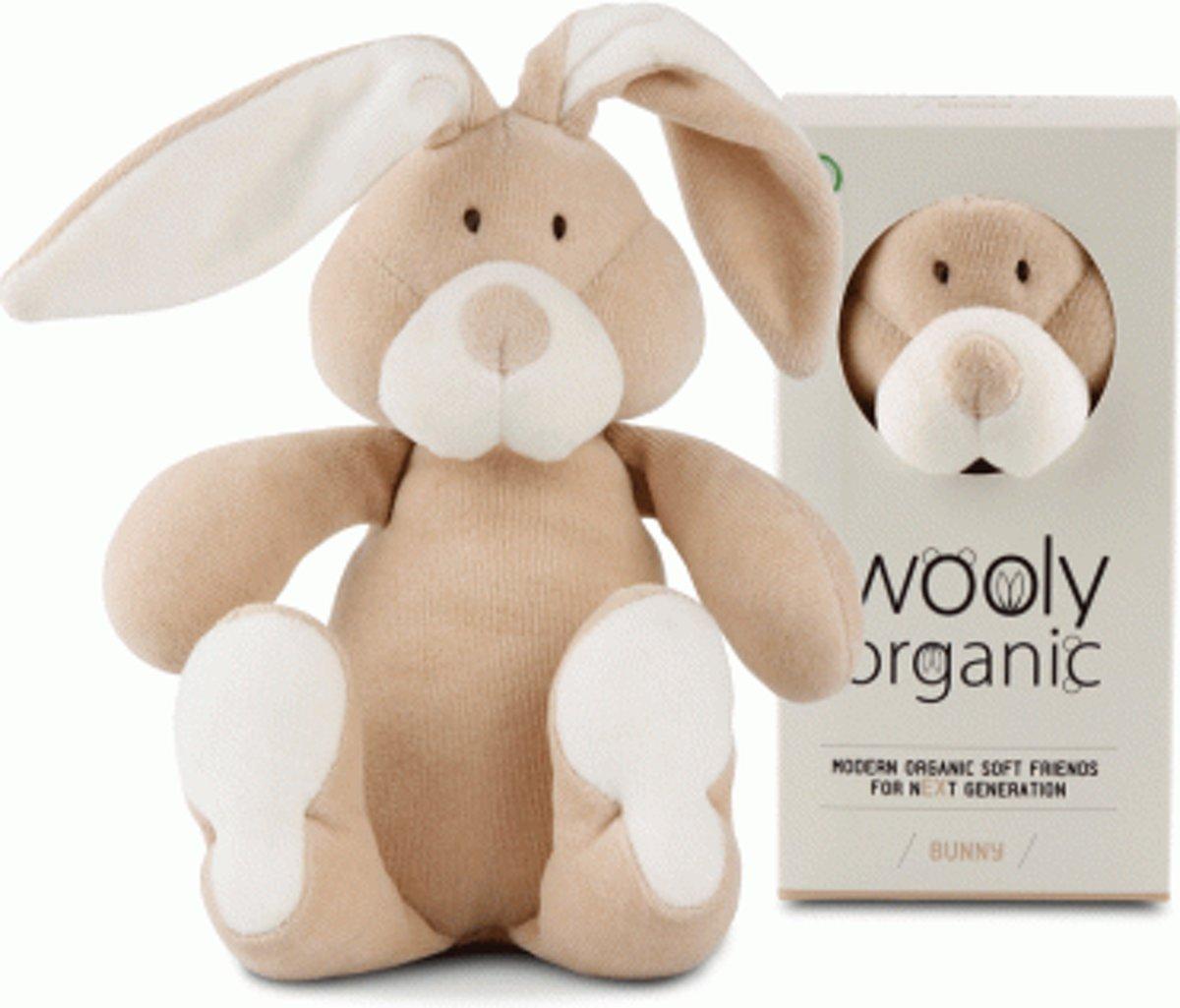 Wooly Organic katoenen knuffelkonijn