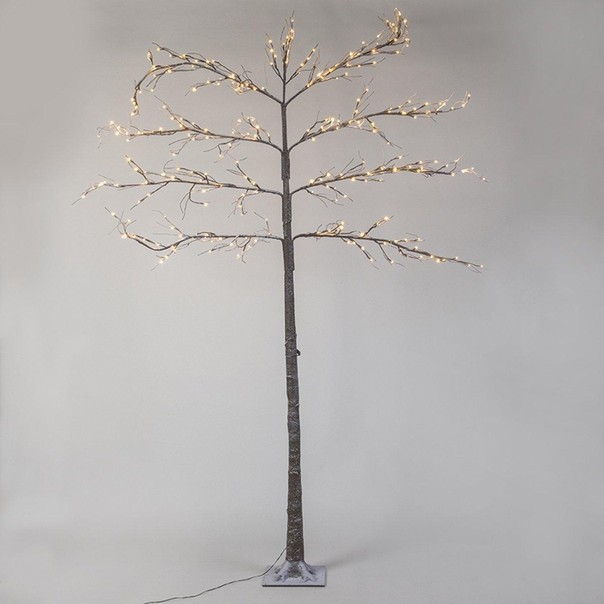 QAZQA - Kerstverlichting Leiboom Snow LED warm wit 2,4 meter kopen