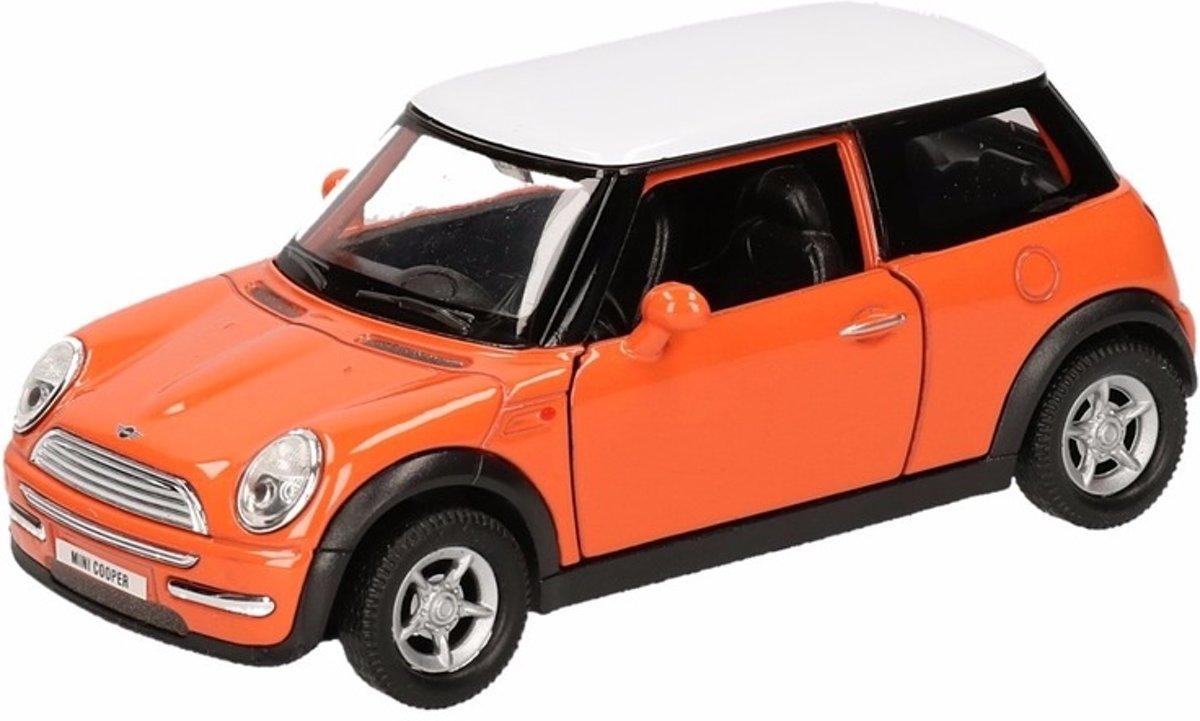 Speelgoed modelauto oranje Mini Cooper auto 12 cm