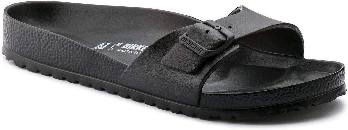 Birkenstock Madrid Smal Dames Slippers - Black - Maat 38 kopen