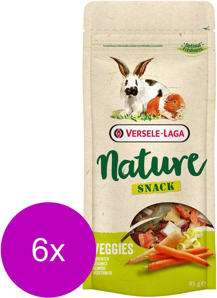 Versele-Laga Nature Snack Veggies - Knaagdiersnack - 6 x Groente 85 g