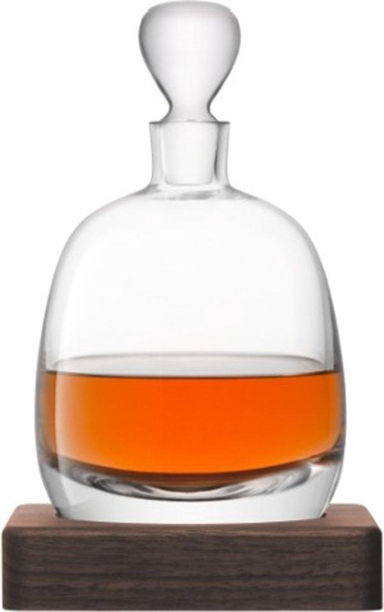 L.S.A. Whisky Islay Decanteerkaraf - 1 liter - Incl. Walnoten Voet kopen