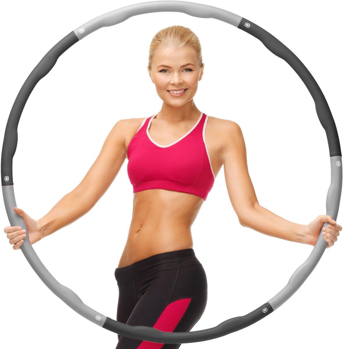 Weight Hoop Original - Fitness hoelahoep - met DVD - 1.8 kg - Ø 100 cm - Zwart/Grijs kopen