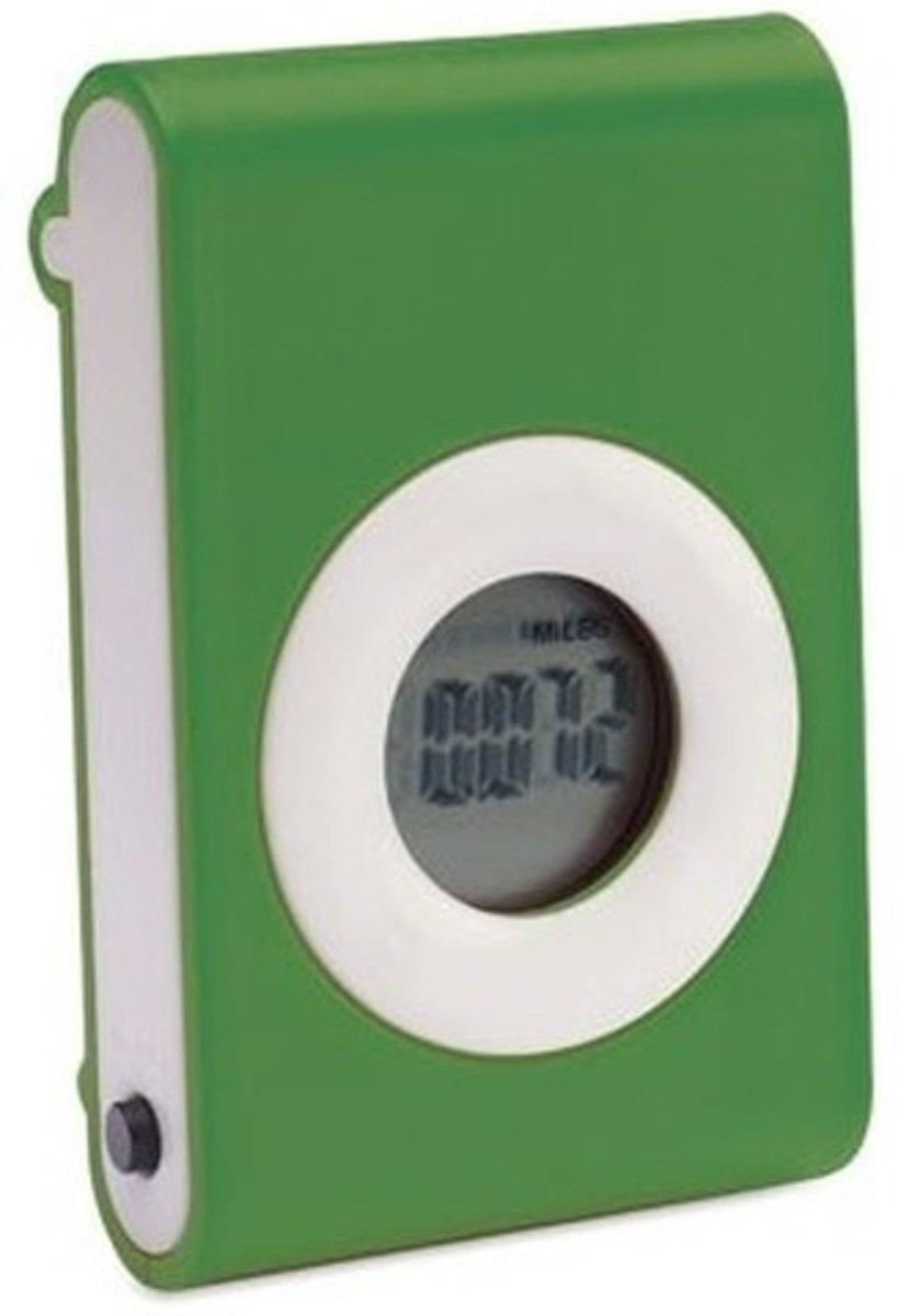 Stappenteller groen met riem clip kopen
