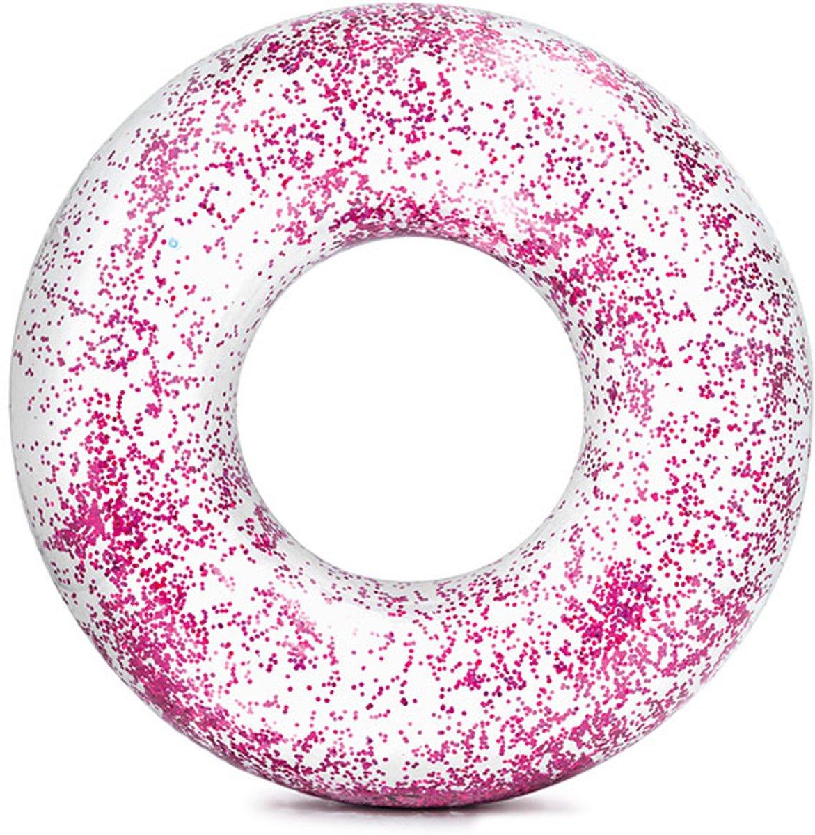 Intex Zwemring Glitter 119cm Roze