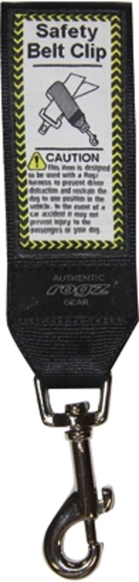 Rogz Safety Belt Car Clip Black 45mm. kopen