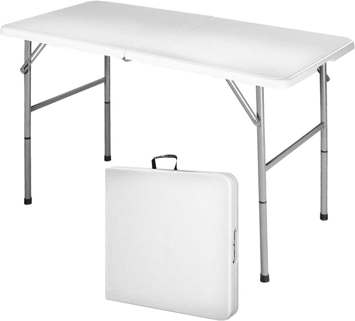 MaxxGarden vouwtafel - met regelbare hoogte - 120 x 60 x 74 cm - wit