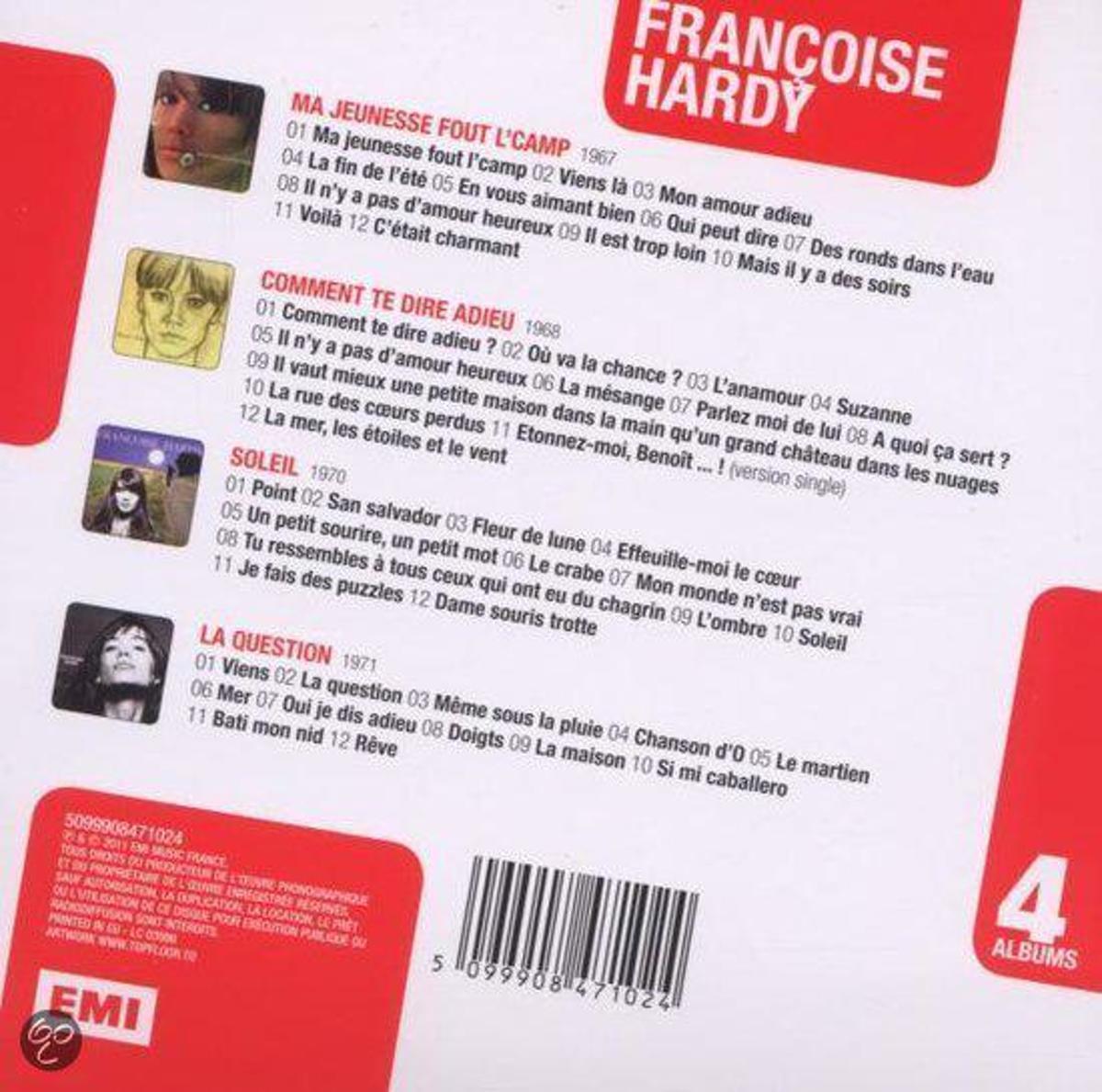 Bol Com Francoise Hardy Box 4cd Ma Jeunesse Le Sol Francoise