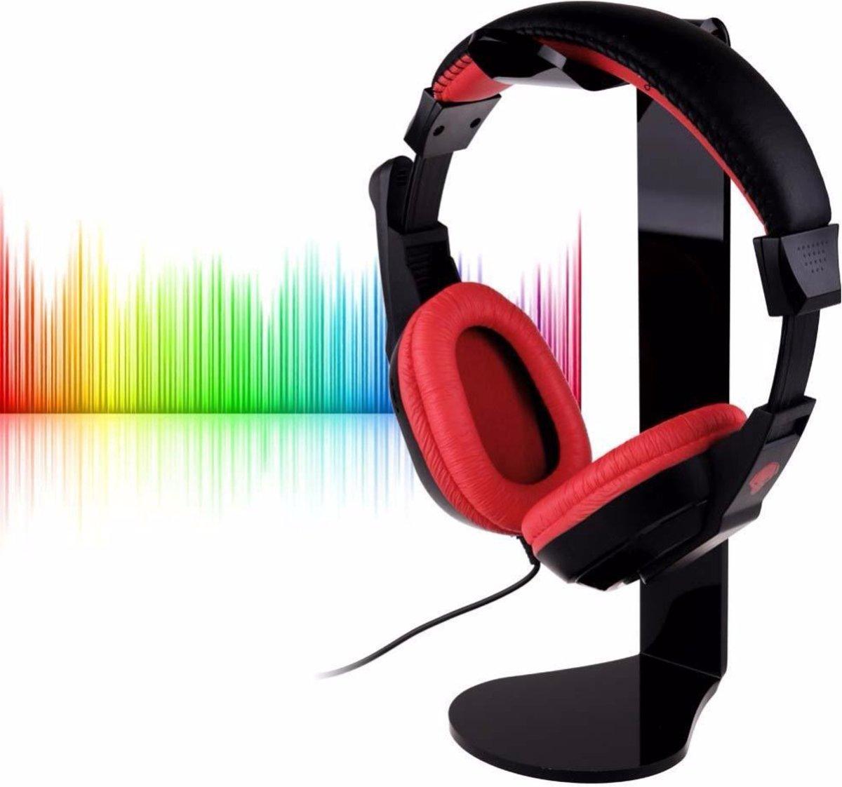 Staande Koptelefoon Houder - Headset Houder - Hoofdtelefoon Stand / Standaard - Zwart kopen