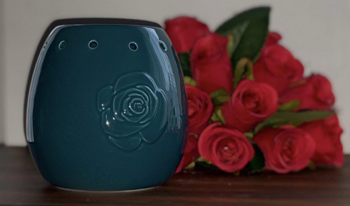 Wax Melts (parfum)geuren verrassingspakket met 10 geuren incl. DHHM | Geurbrander | Roos | Donker Turquoise