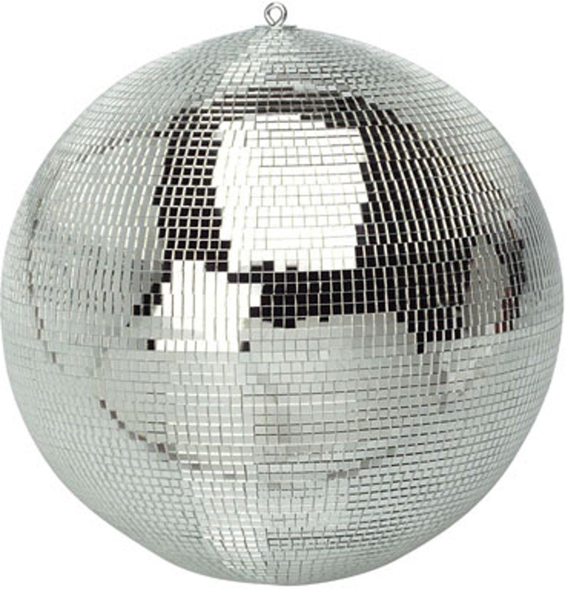 Spiegelbol discobol zilver - 40 cm