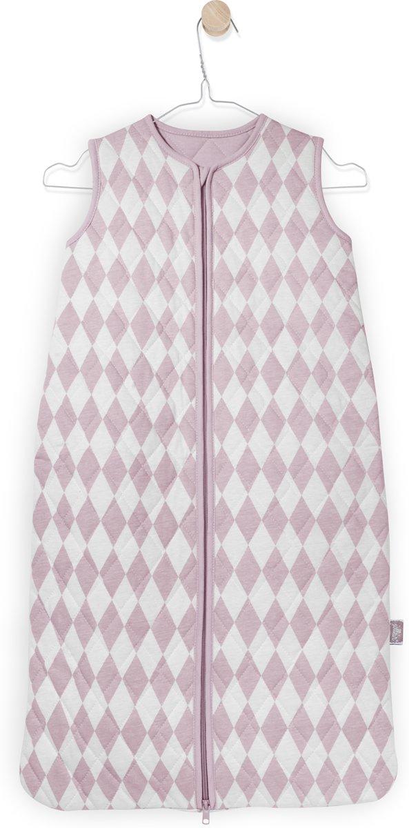 Jollein Diamond Check - Babyslaapzak Winter - 70 cm - Vintage Roze