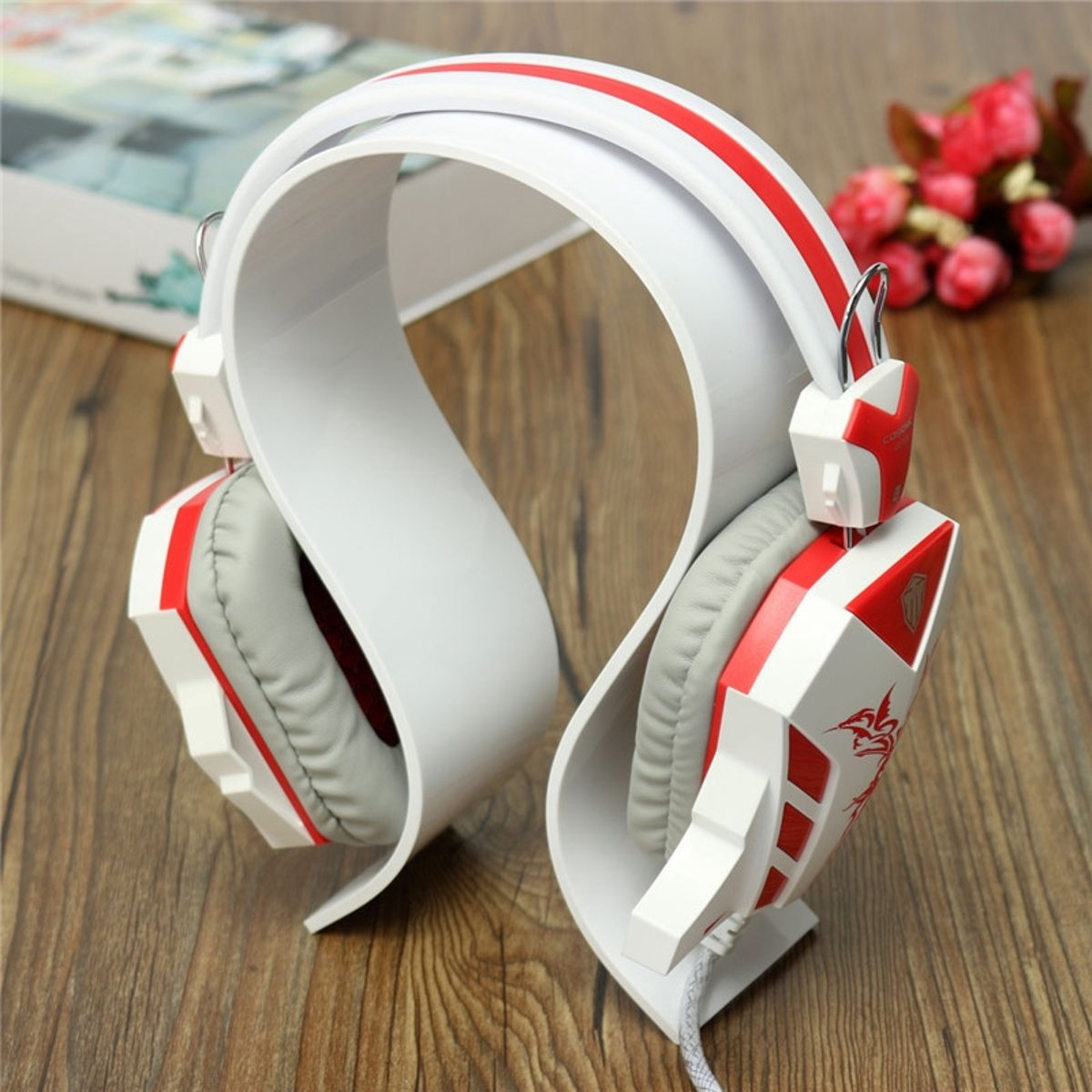 Acryl Koptelefoon Houder - Headset Houder - Hoofdtelefoon Stand / Standaard - Wit kopen