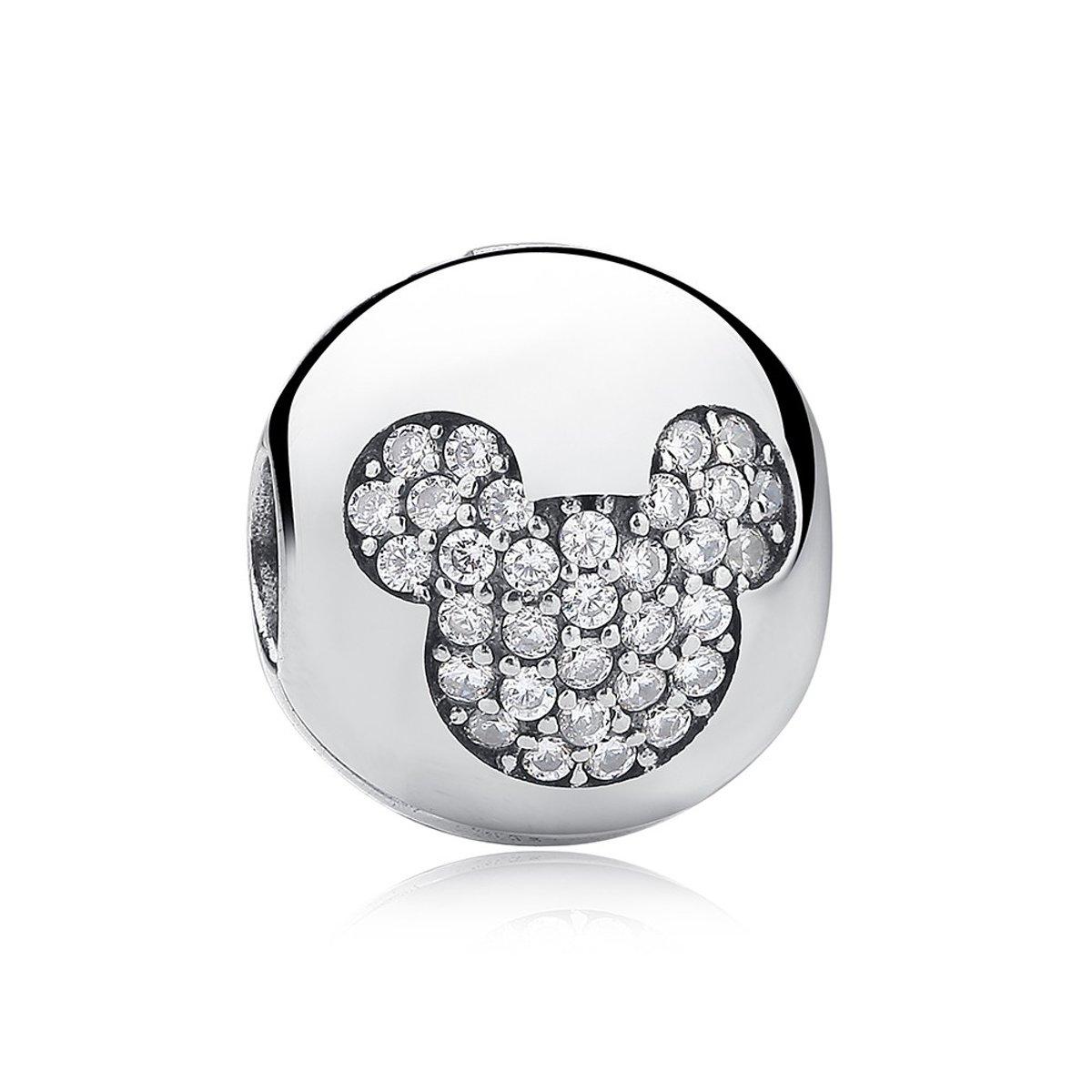 Zilveren clip Mickey Mouse kopen