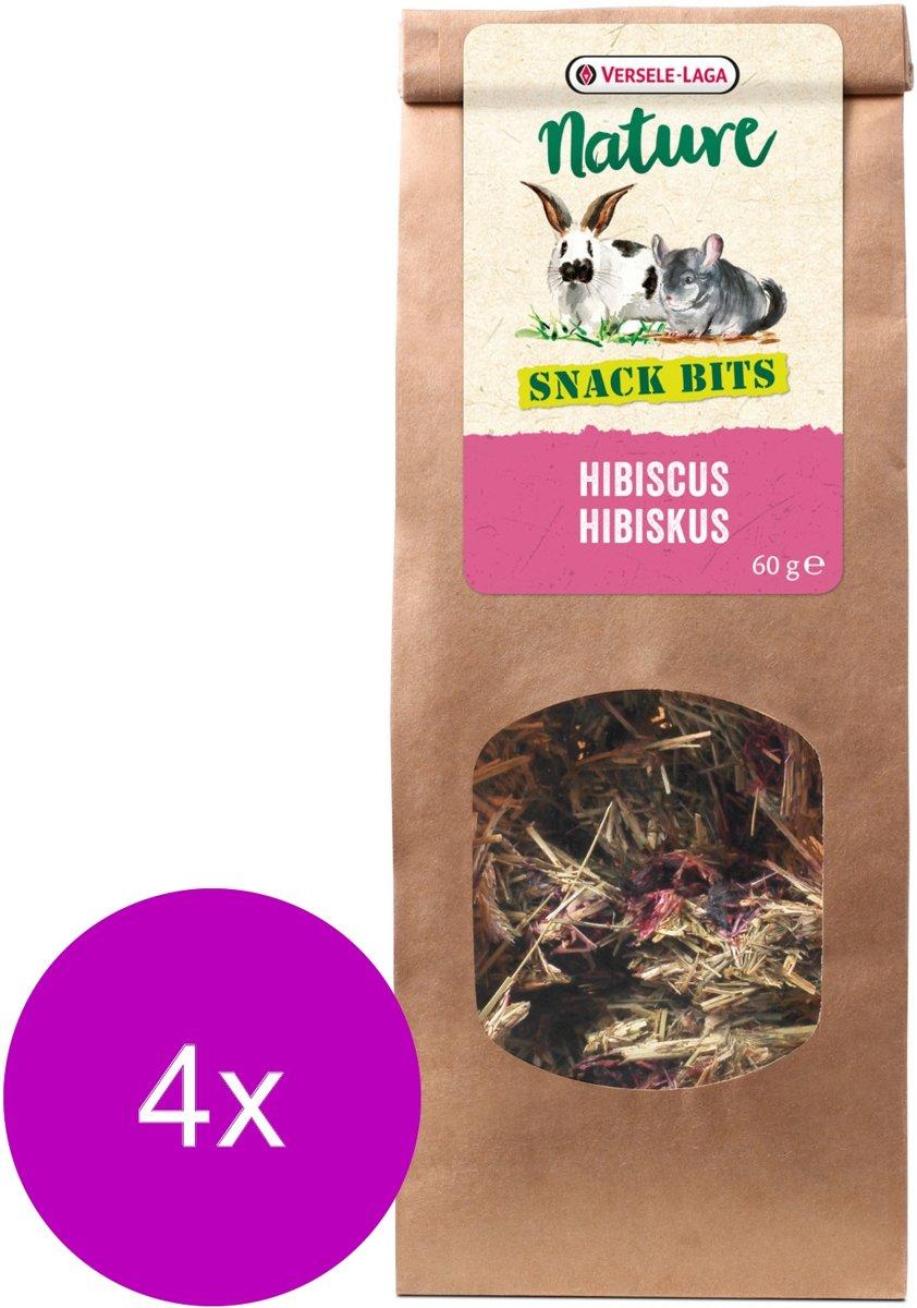 Versele-Laga Nature Snack Bits Hibiscus - Knaagdiersnack - 4 x Hibiscus 60 g