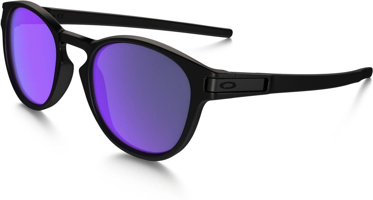 Oakley Latch - Zonnebril - Matte Black / Violet Iridium kopen