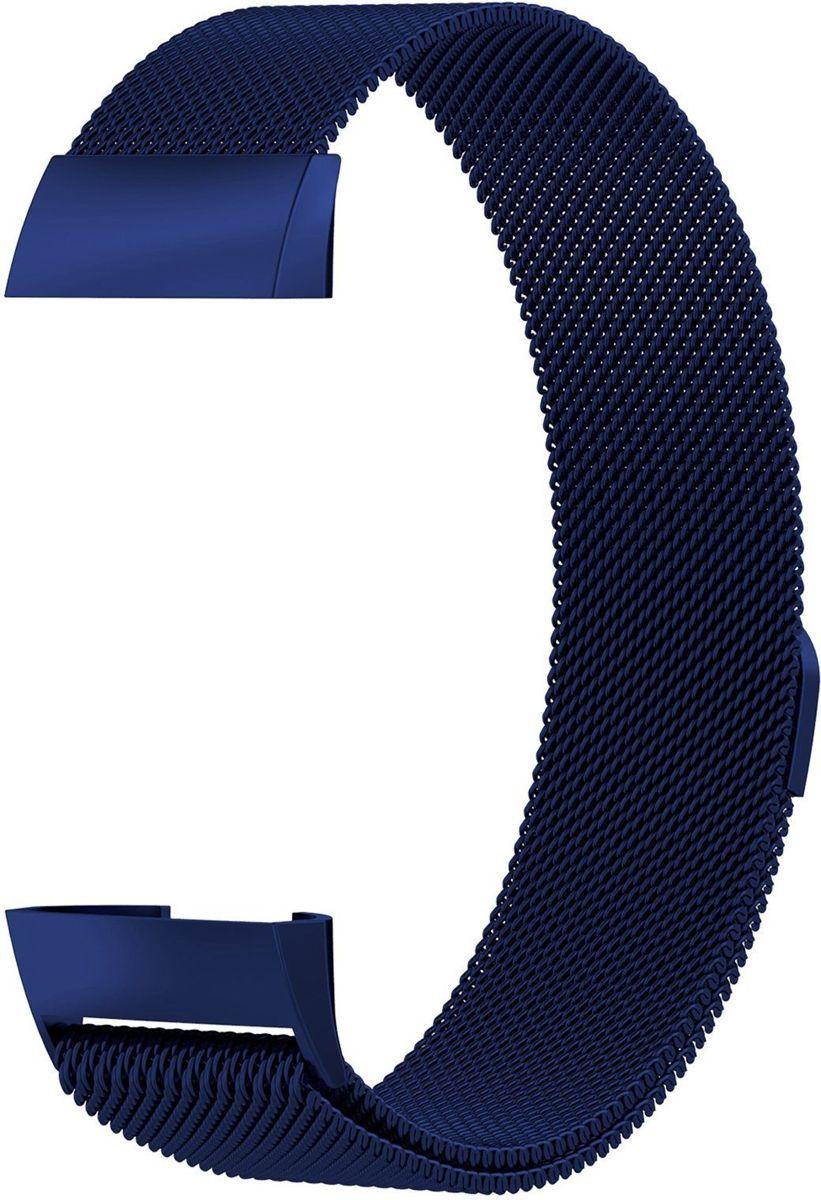 KELERINO. Milanees bandje voor Fitbit Charge 3 Blauw - Small kopen