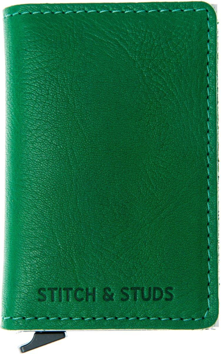 HIDE & SEEK RFID Cardprotector creditcardhouder-portemonnee-leer -groen kopen