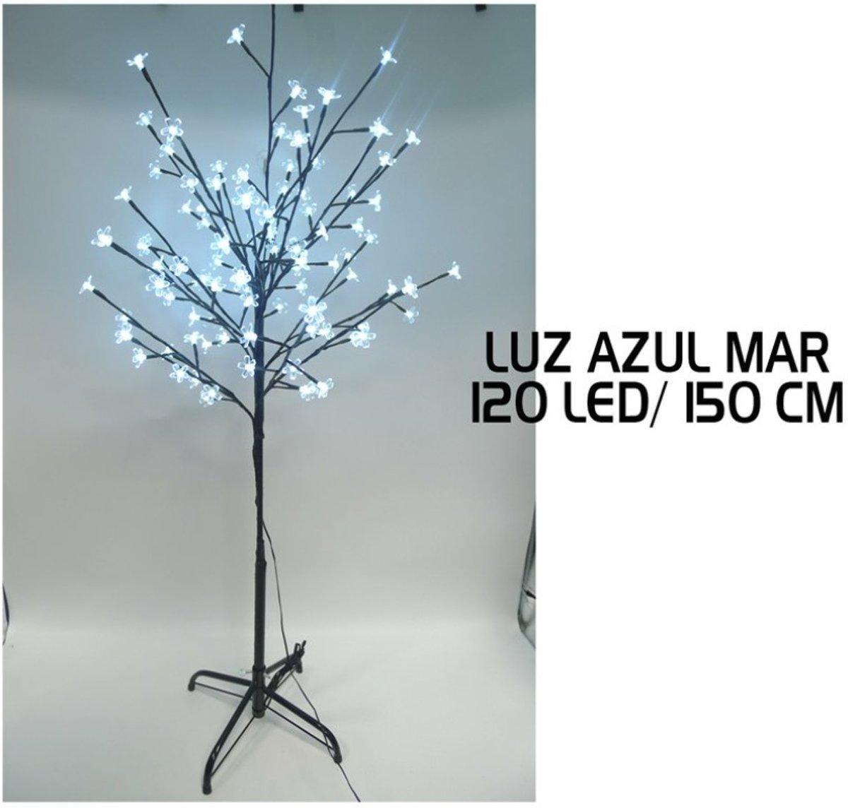 Decoratieve LED Lichtboom 150 cm met 120 Blauwe LED lampjes - Kerstsfeer - Kerstdecoratie - Sfeerverlichting - Sfeervol. kopen