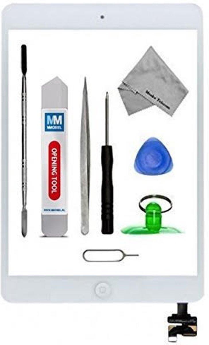 MMOBIEL Digitizer geschikt voor de Apple iPad mini wit, touchscreen glas inclusief voorgemonteerde home button en camera lens houder. Nu met voorgemonteerd dubbelzijdig tape, frame bezel, een professionele toolkit en een stap voor stap handleiding. kopen