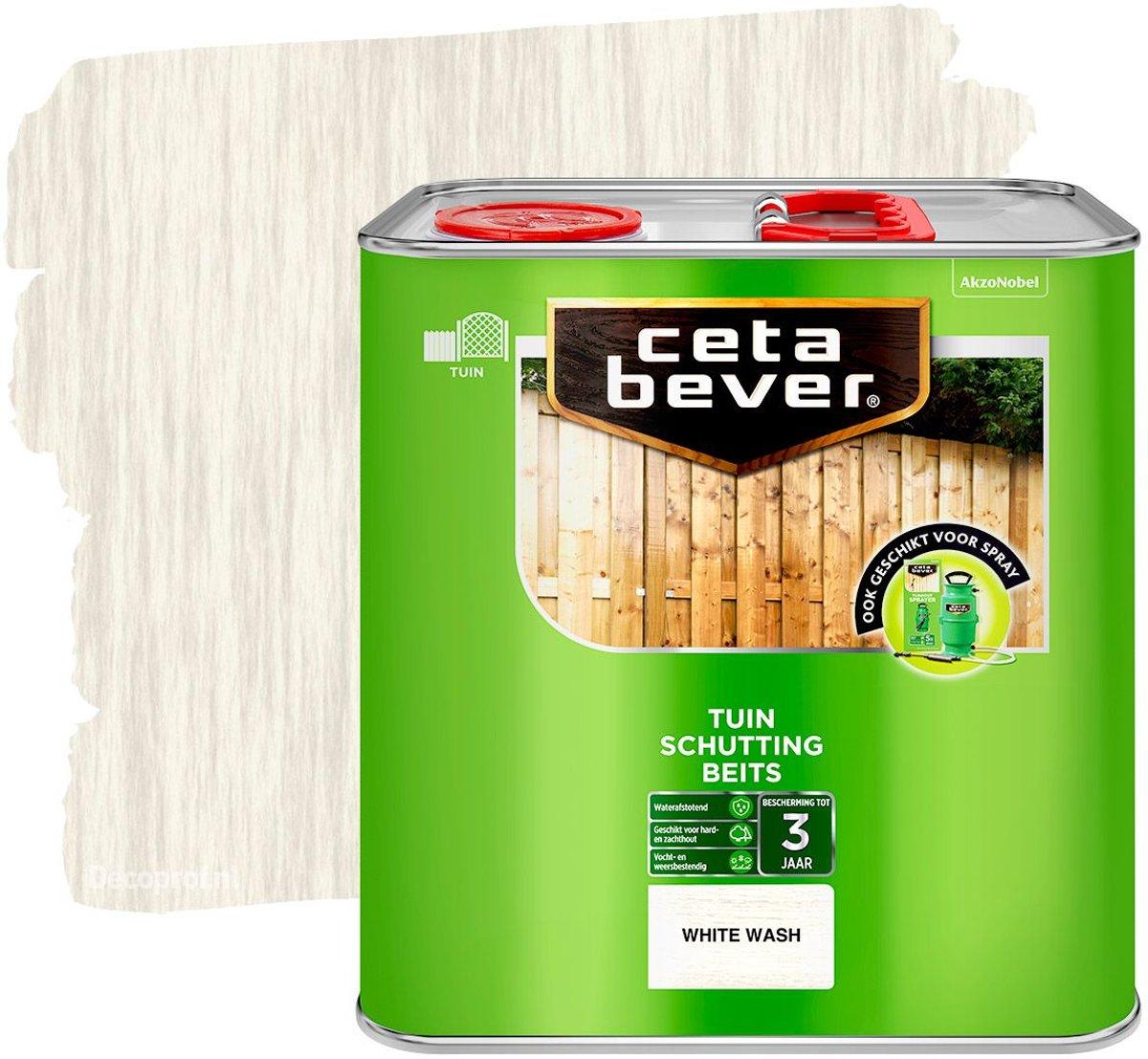 Cetabever SchuttingBeits - White Wash - 2,5L kopen