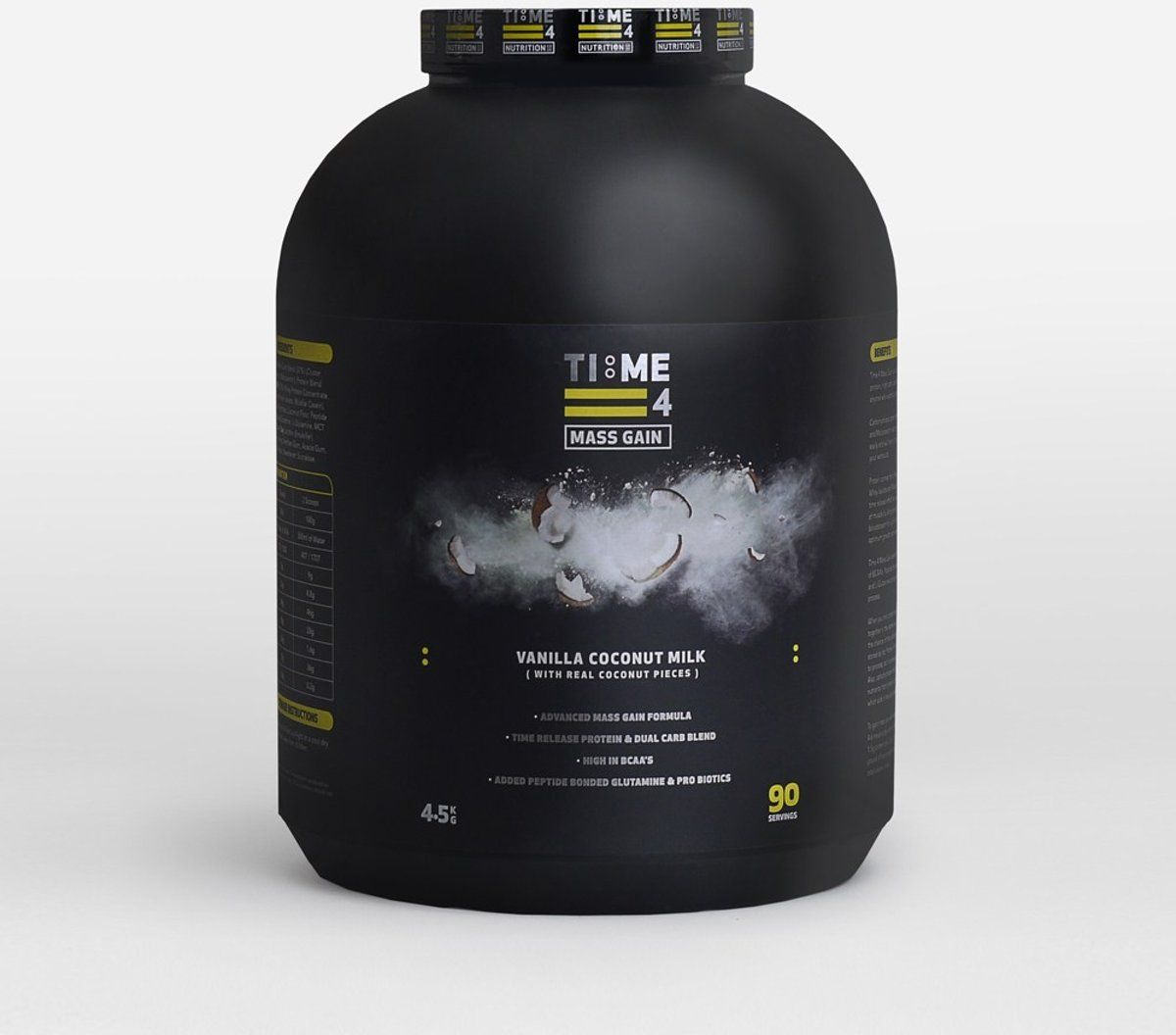 Time 4 Nutrition Koolhydraten Mass Gain Shake Vanille Coconut Milk 4.5 Kg kopen
