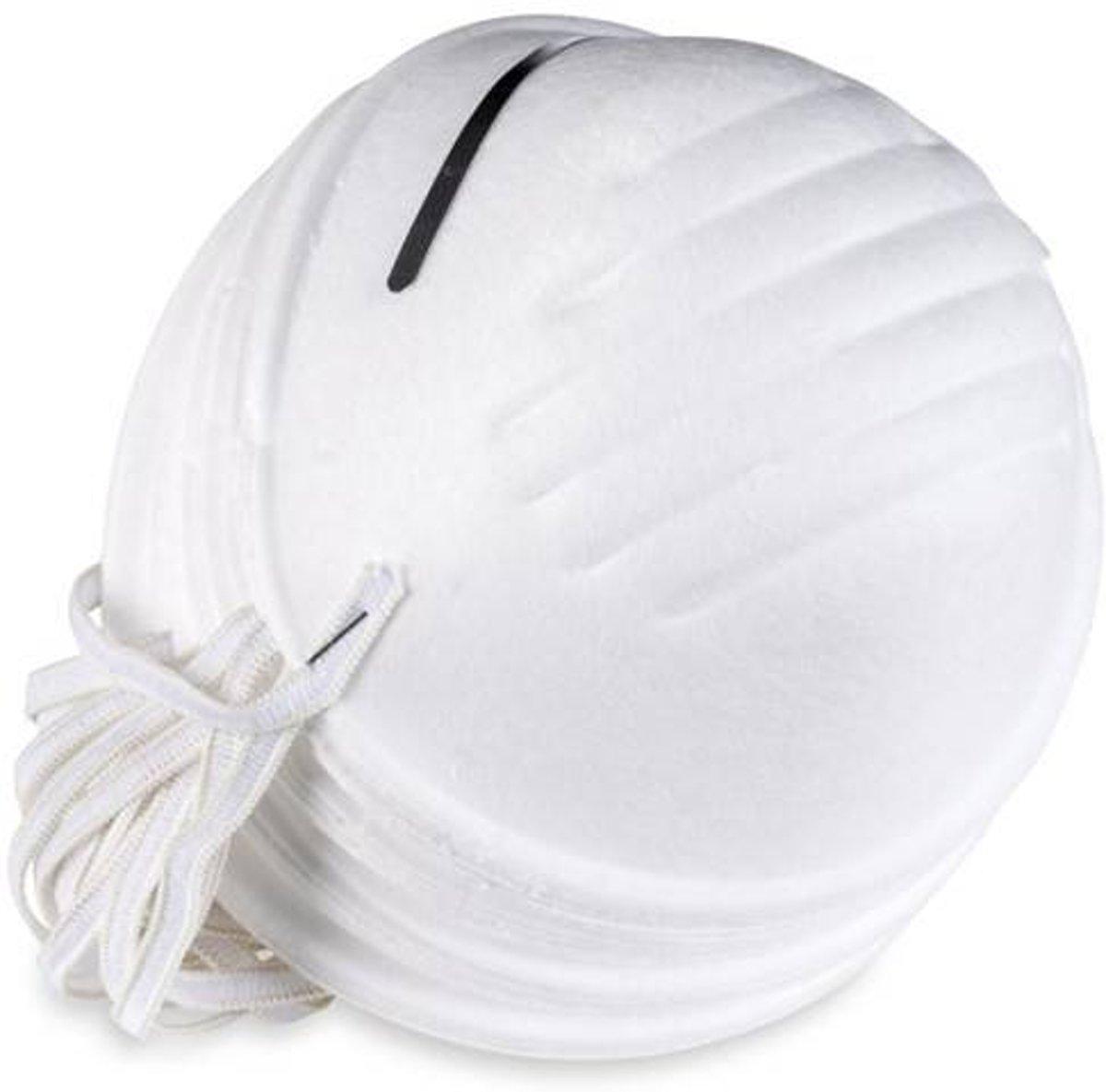Vuil- Stofmasker - mondkapje - schuurmasker - Hygiënemasker - met aluminium neusclip (9 stuks) kopen