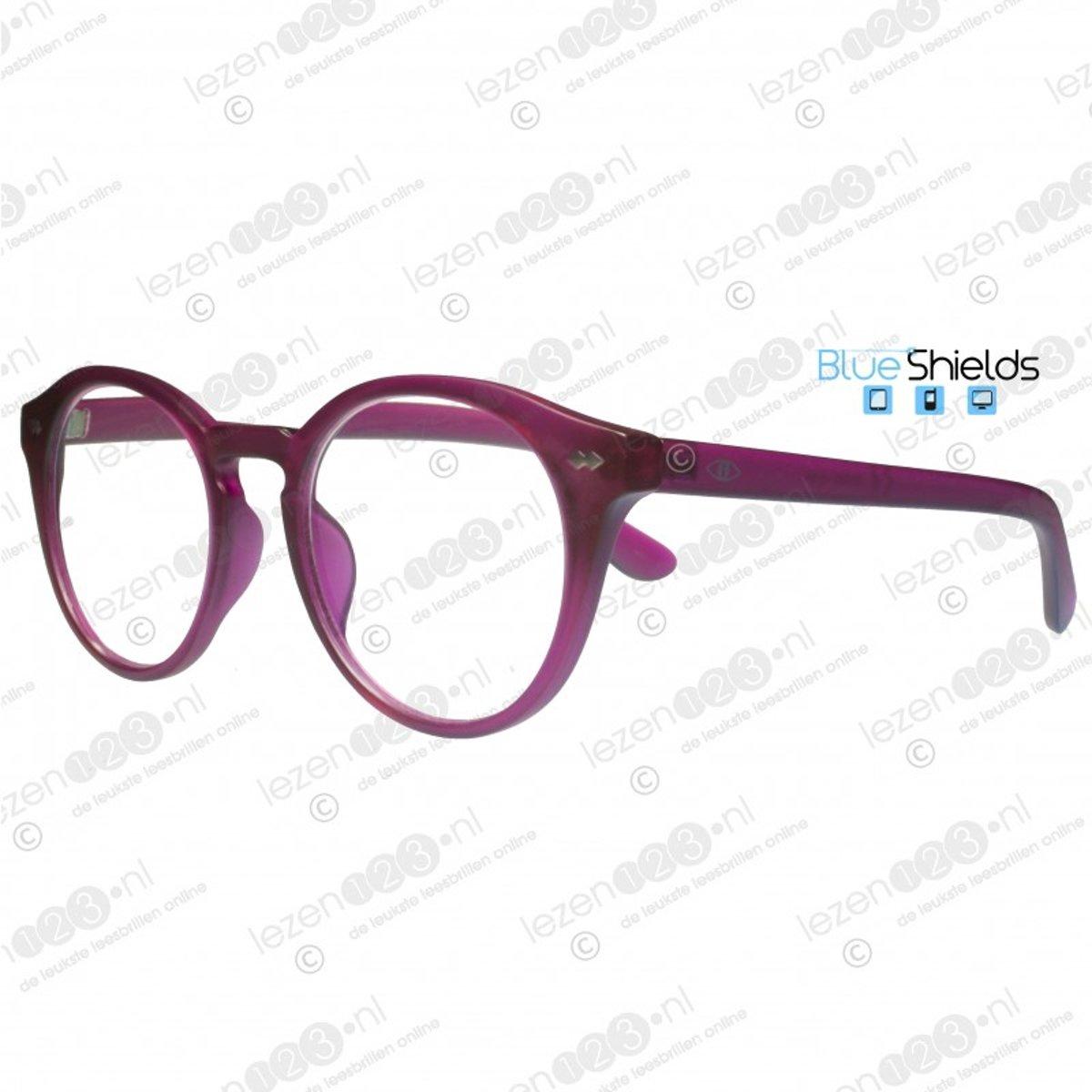 Icon Eyewear KFI340 +1.50 Jamie BlueShields Leesbril - blauw licht filter lens - Framboos kopen