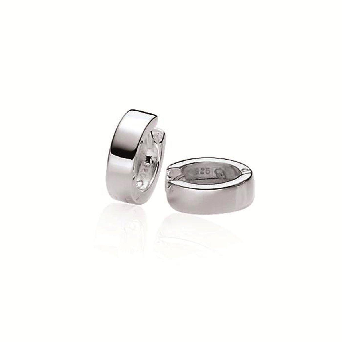 Classics&More - Zilveren oorringen vierkante buis kopen