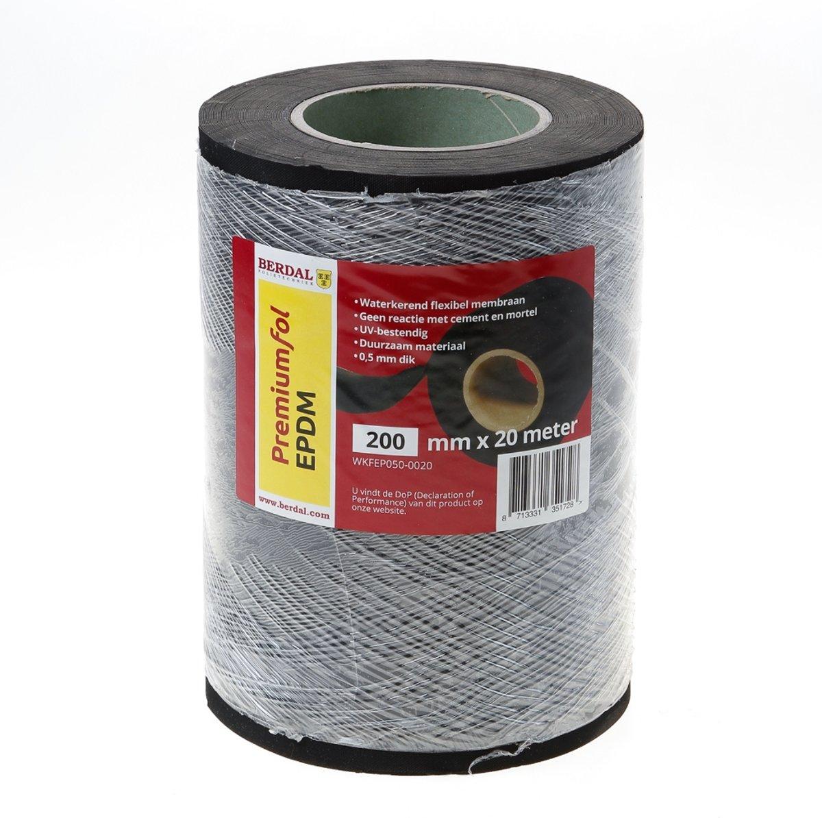 EPDM Folie zwart 0,5x200mm  20m kopen
