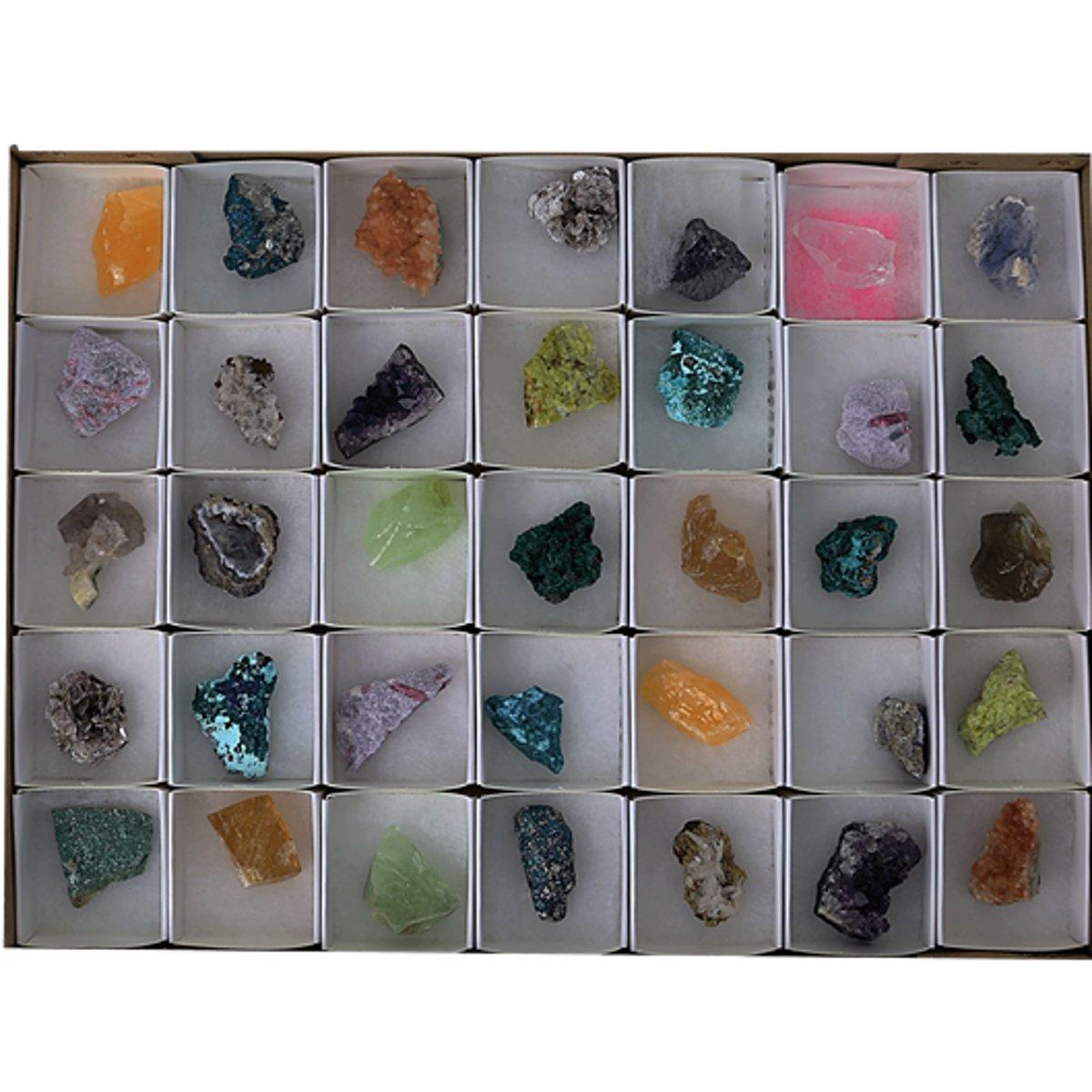 Yogi & Yogini naturals Mix ruwe mineralen showdoos (35 stuks) kopen