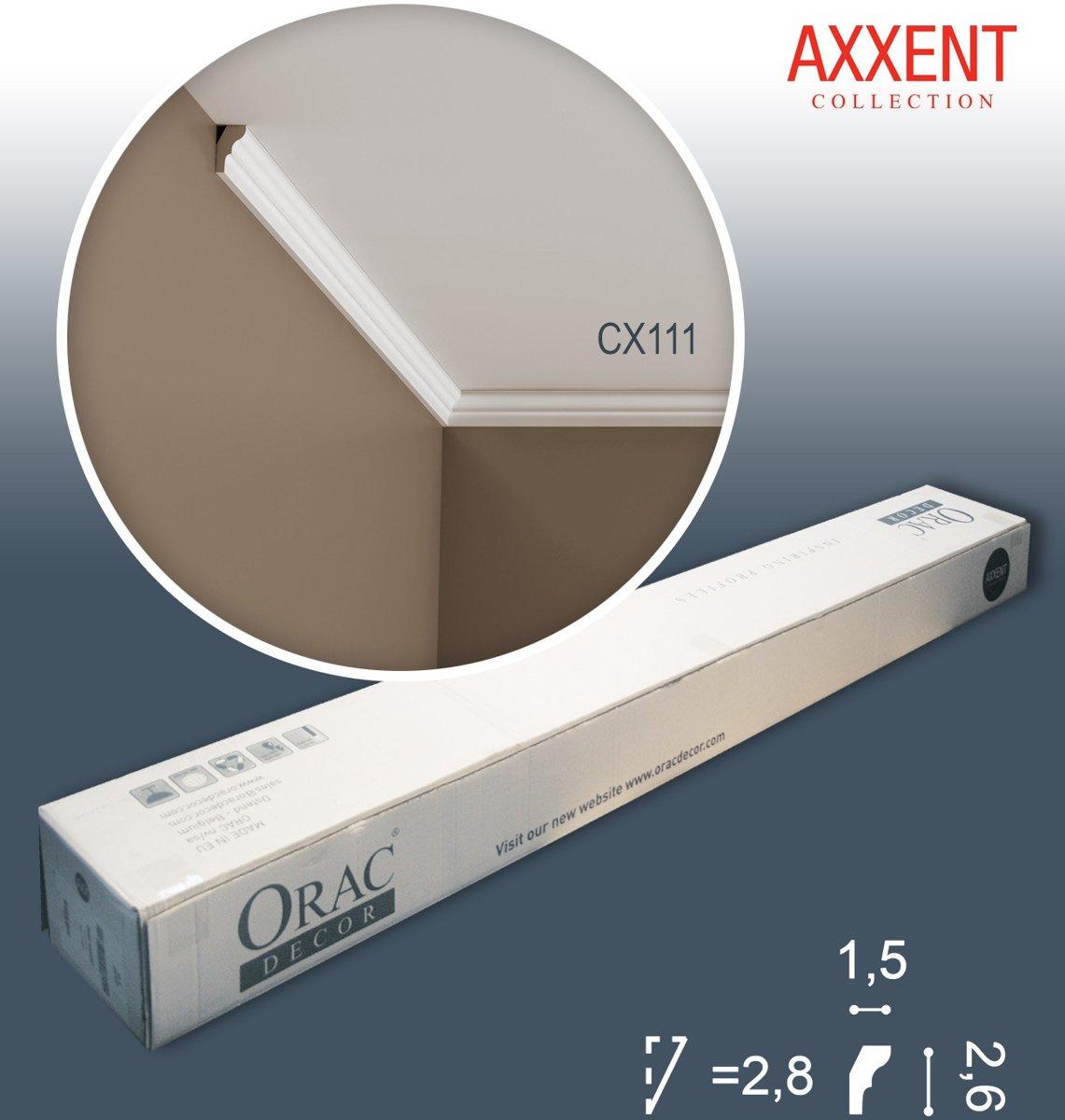 1 doos 10 Kroonlijsten Origineel Orac Decor CX111 AXXENT Plafondlijsten Sierlijsten 20 m kopen