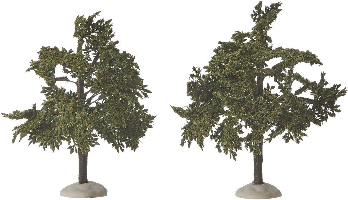 Luville - Winter village tree green 2 pieces - h14cm kopen