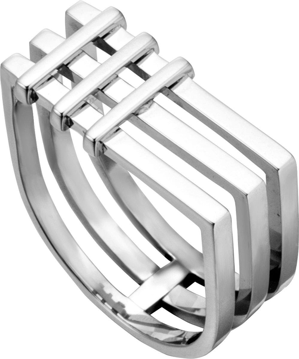 Esprit ESRG001721 Jace Ring - Staal - Zilverkleurig kopen