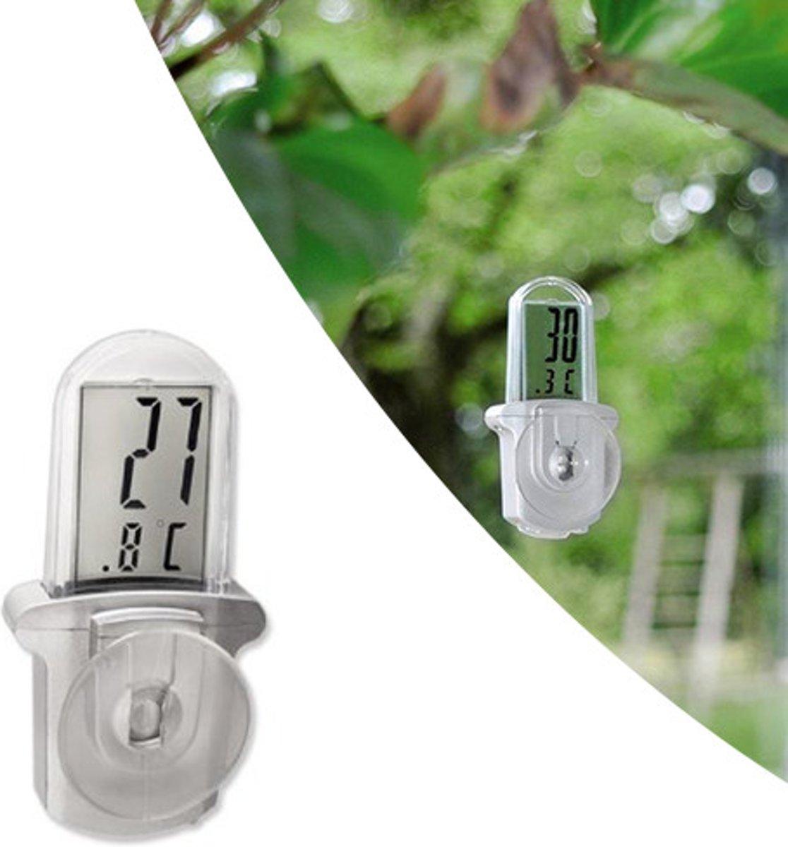 Grundig Waterdicht Digitale Thermometer Met Zuignap   Buiten Thermometer   Outdoor Raam Thermometer  Inclusief Batterij kopen