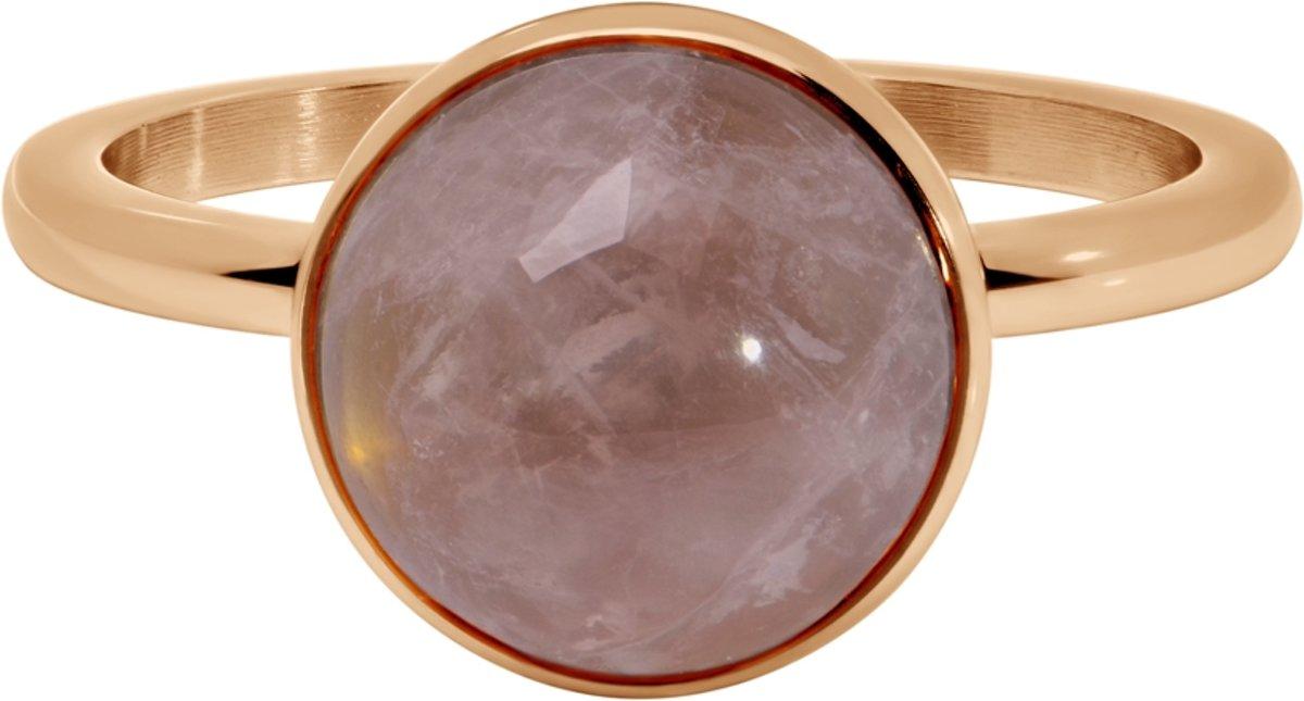 Quiges Stapelring Ring - Vulring Roze Steen - Dames - RVS roségoudkleurige - Maat 19 - Hoogte 2mm kopen