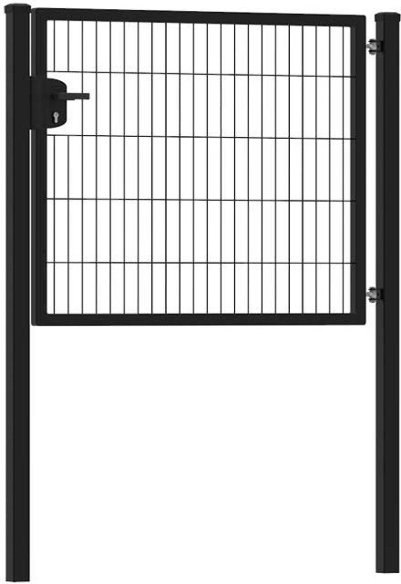Enkele tuinpoort 120 x 100 cm (bxh) Zwart RAL9005 premium kopen