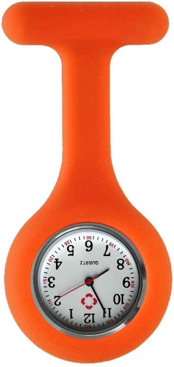 Fako Bijoux® - Verpleegstershorloge - Siliconen RVS Uni - Oranje kopen
