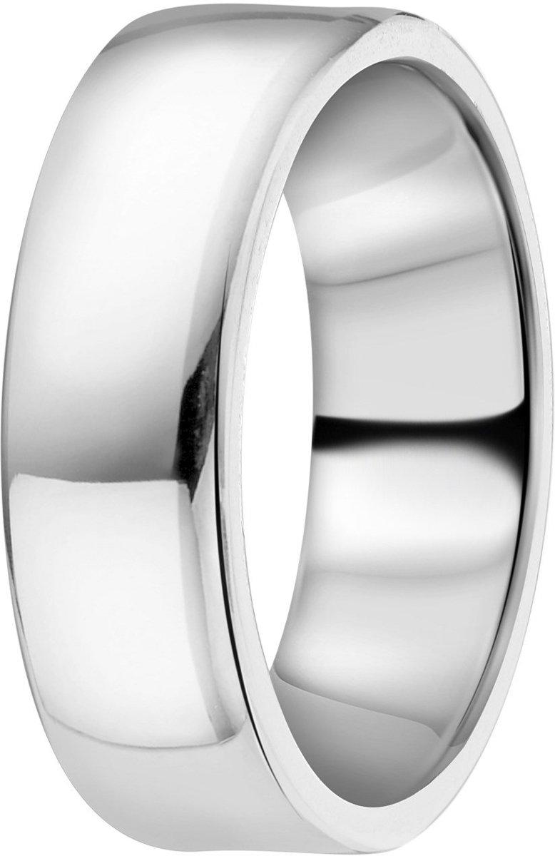 Lucardi - Zilveren ring glad 6mm kopen