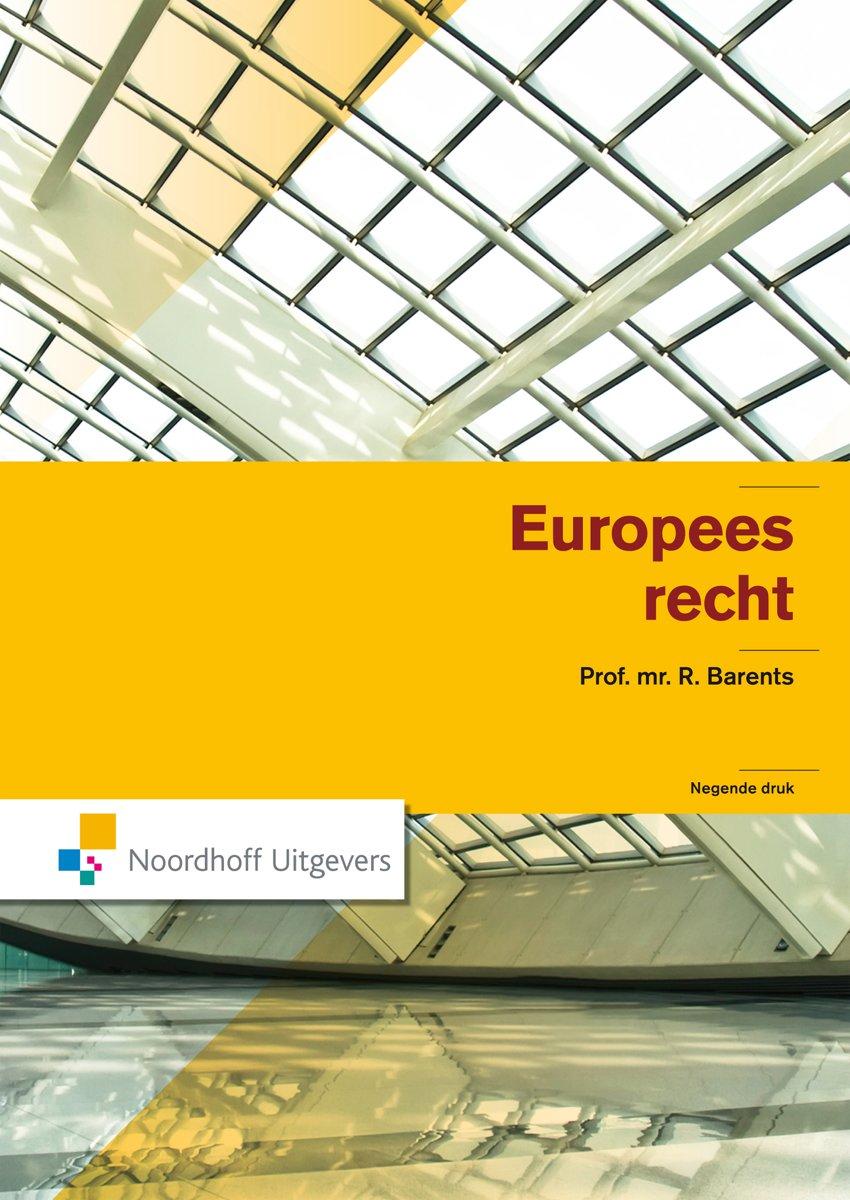 R. Barents - Europees Recht
