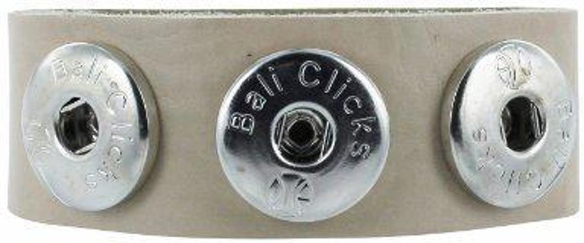 Bali Clicks Classics Armband - Beige - 21 cm kopen