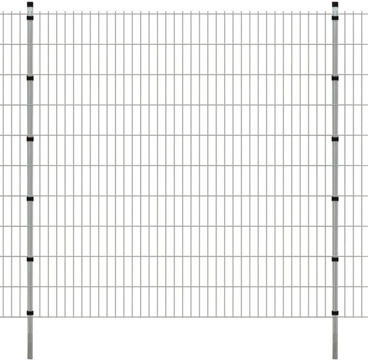 vidaXL Dubbelstaafmat 2008 x 2030 mm 2 m zilver 1 stuks kopen