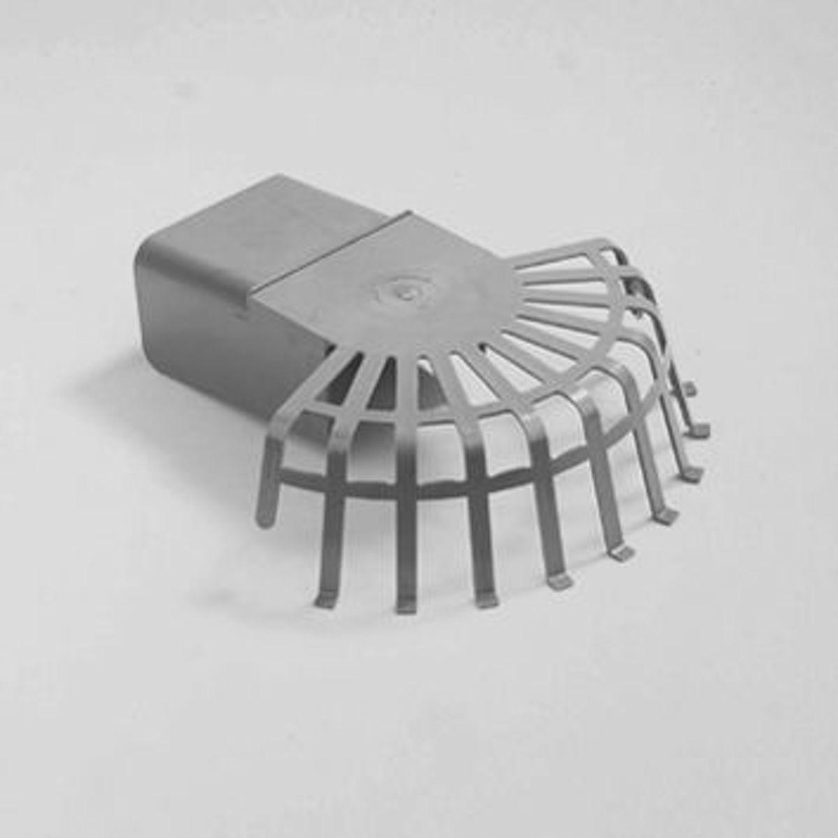 Dyka Bladvanger PVC grijs 60 x 100mm (Prijs per stuk) kopen