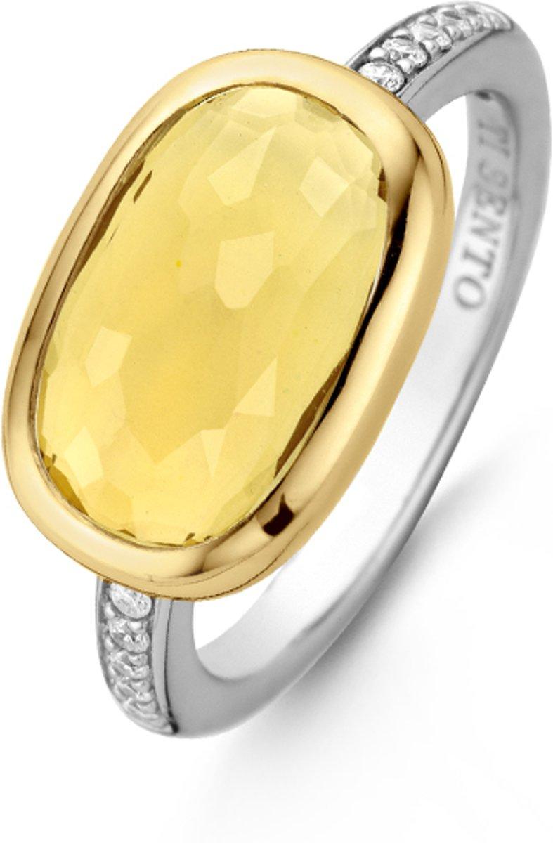 TI SENTO - Milano Ring 12139TY - gerhodineerd zilver kopen