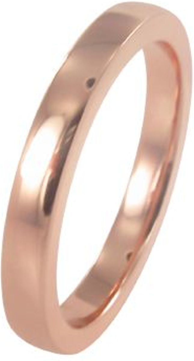 Silventi 943200778 56 Zilveren damesring - Musthave Basic - Dikte 3 mm - Rosékleurig kopen