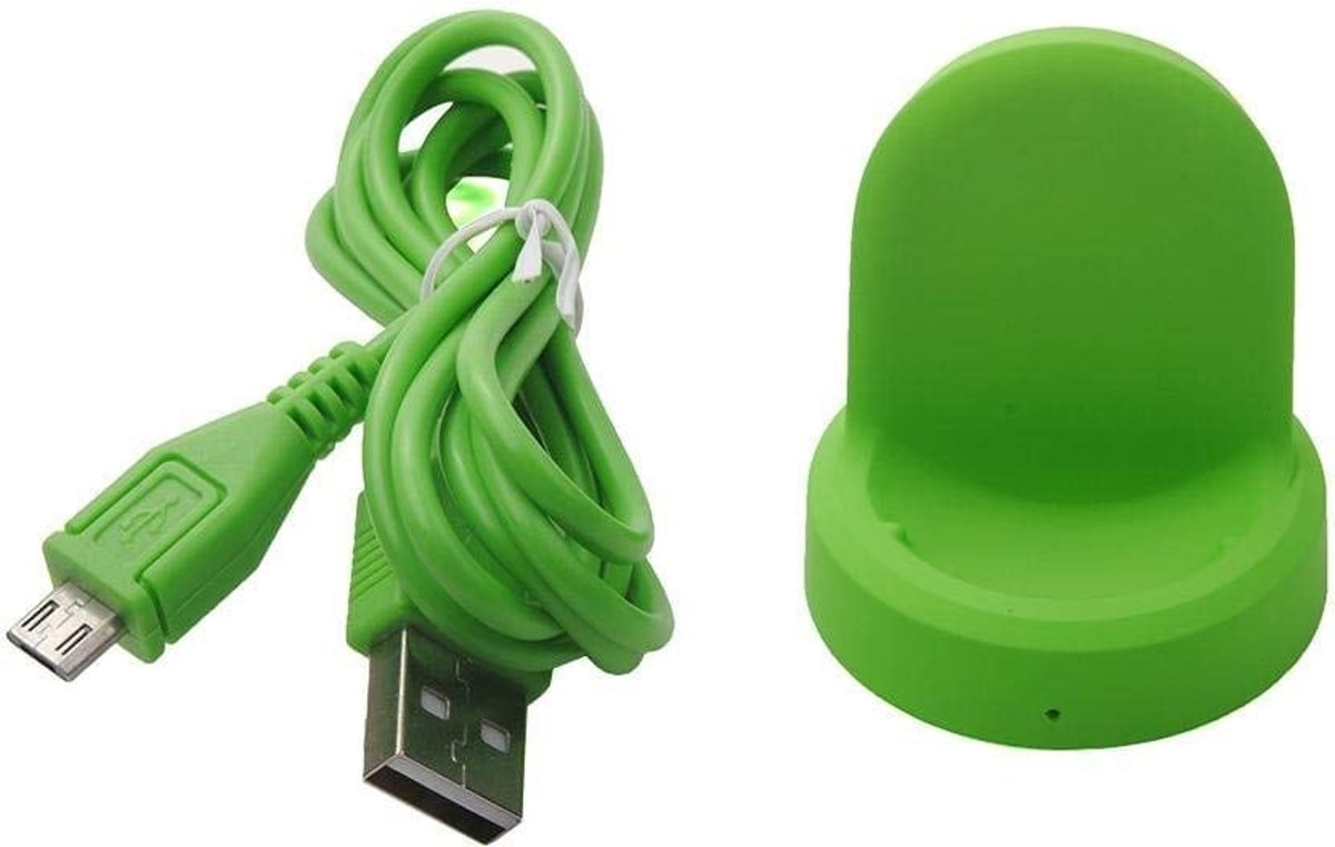 Draadloze oplader voor Samsung Gear S3 Classic – Frontier draadloos laadstation groen Watchbands-shop.nl kopen