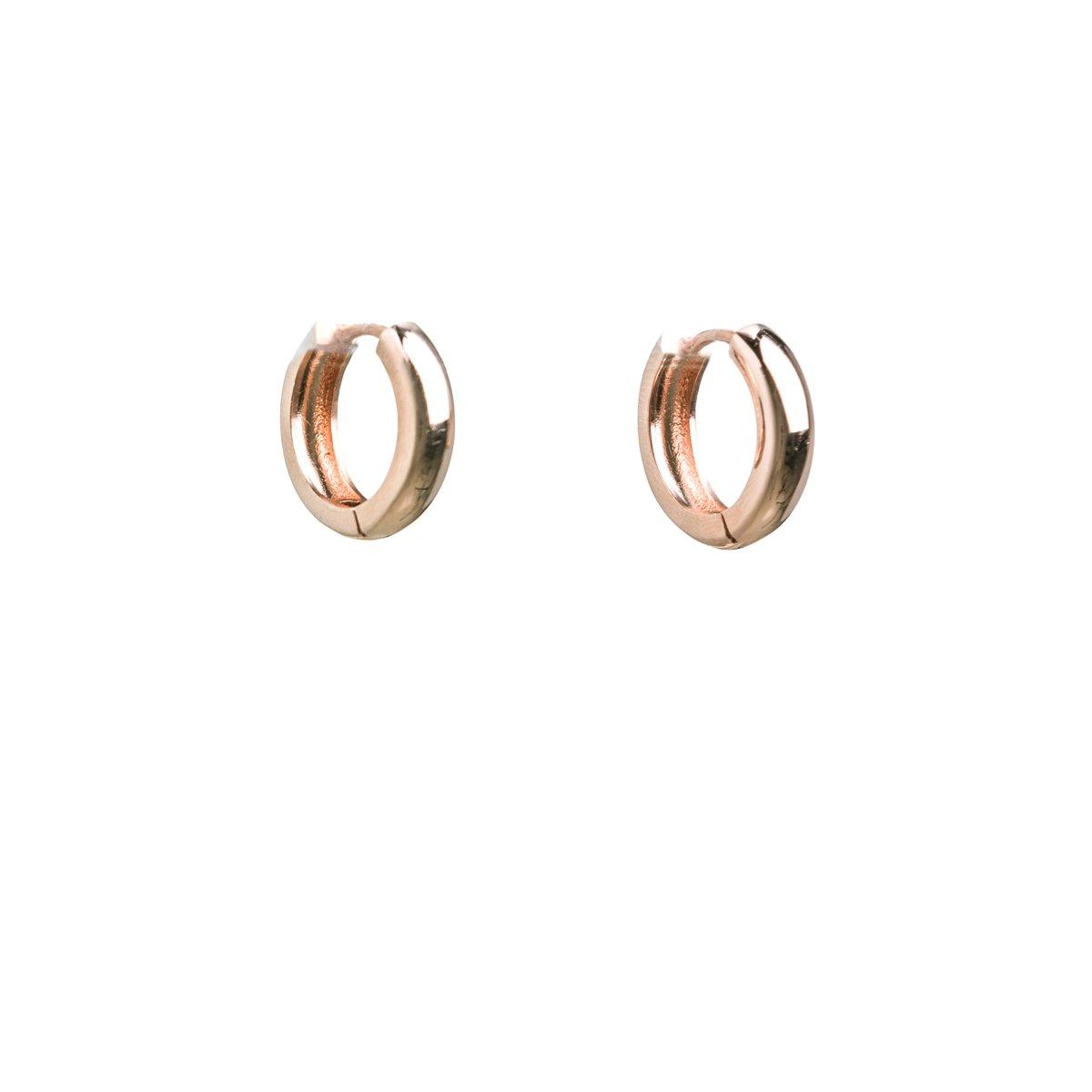 oorringen oorringen 18-5mm halfrond: 18K roségoud verguld zilver kopen