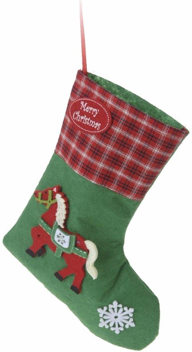 Kerstcadeau kerstsok groen voor je paard type 3 20 cm kopen